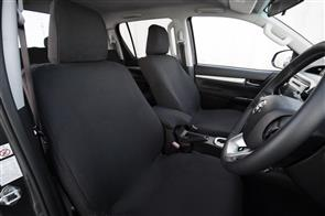 Premium Fabric Seat Covers to suit Toyota Hilux Double Cab (8th Gen Auto) 2015+