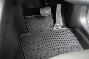 Lipped All Weather Rubber Car Mats to suit Ford Ranger Wildtrak (Double Cab PX) 2011-2015