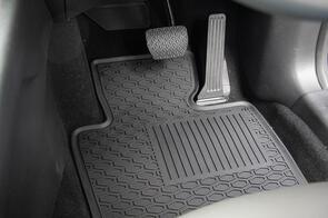 Hyundai Santa Fe (4th Gen TM 7 Seat) 2018+ Lipped All Weather Rubber Car Mats