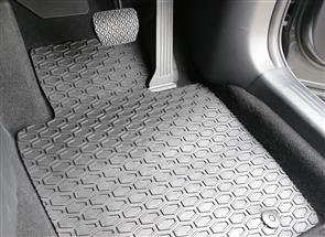 All Weather Rubber Car Mats to suit Tesla Model X 6 Seat (No Centre Console) 2016+