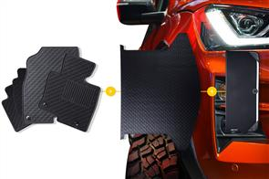 Rubber Mats Bundle to suit Smart Car Fortwo 2007+