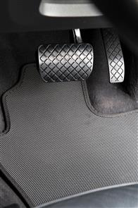 Standard Rubber Car Mats to suit Nissan Navara (D40 O/SEAS SPEC Foldup seats ) 2010-2015