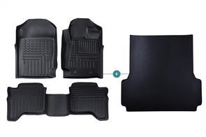 Deep Dish Mats & Dome TPR Liner Bundle to suit Isuzu D-Max Double Cab (2nd Gen Facelift) 2015-2020