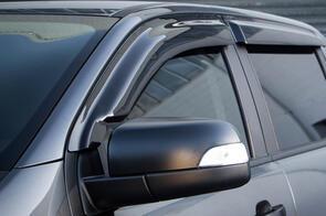 Tinted Door Visors to suit Mitsubishi Pajero Sport (3rd Gen 7 Seat) 2016+