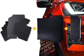 Rubber Mats Bundle to suit Dodge Ram 1500 (4th Gen Quad Cab) 2013-2018