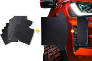 Rubber Mats Bundle to suit Land Rover Defender (7 Seat) 2020+
