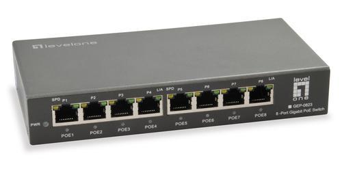 8-Port Gigabit PoE Switch, 802.3at/af PoE, 8 PoE Outputs, 120W
