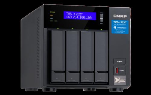 4-Bay NAS, G5400T 2-core 3.1 GHz  CPU, 4 GB RAM, Thunderbolt 3, 10GbE