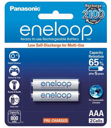 2-Pack rechargeable AAA Ni-MH batteries for Panasonic cordless phones