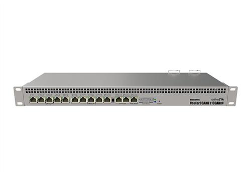 13-Port Gigabit Router, 1U rackmount, RouterBOARD 1100Dx4 Dude Edition