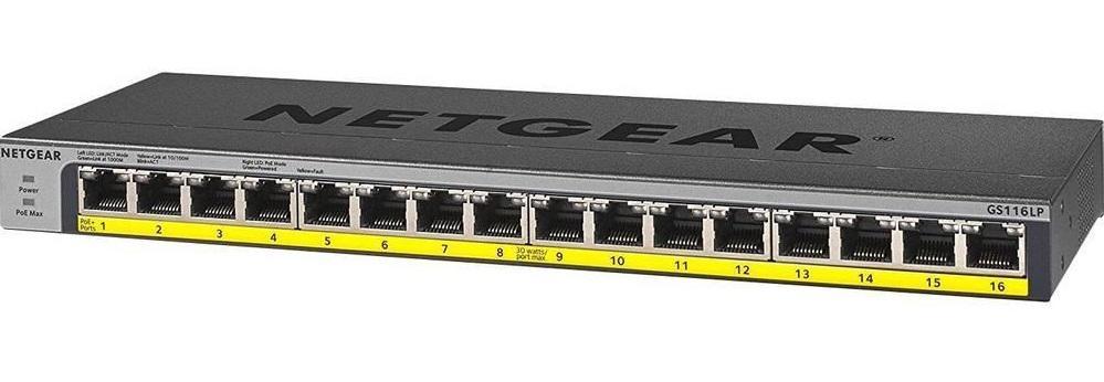 16-Port Gigabit Unmanaged PoE+ Switch