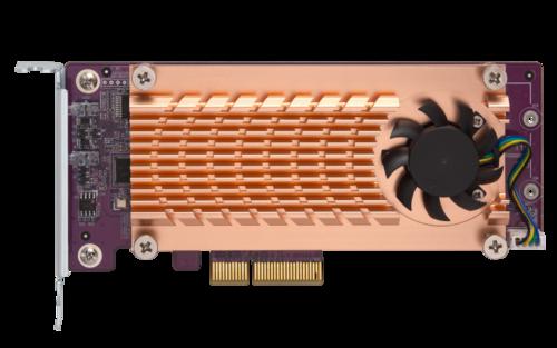 Dual M.2 SATA SSD expansion card; (PCIe Gen2 x2), for 2 M.2 SATA SSDs