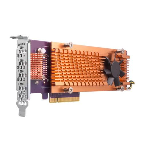 Dual M.2 PCIe SSD expansion card; supports up to two M.2 2280/22110 form factor M.2 PCIe