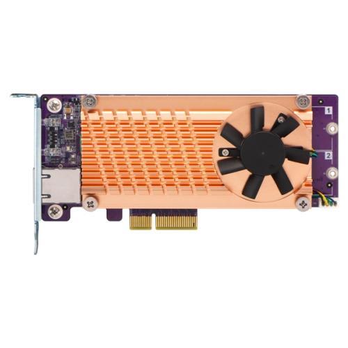 QM2 Card, 2x PCIe 2280 M.2 SSD, PCIe Gen2 x4, 10GbE NBASE-T port
