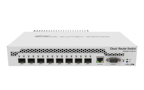Cloud Router Switch, 8 SFP+ 10G ports, 1 GigE RJ45 port