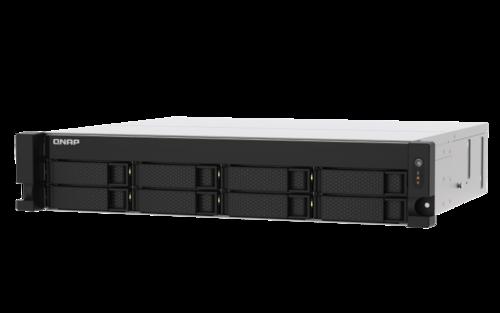 8-Bay Rackmount NAS, Quad-Core 2.2GHz CPU, 4GB RAM, 4 x Gigabit Ethernet, Dual Power