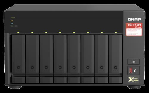 8-Bay NAS, Quad-Core 2.2GHz CPU, 8GB RAM, 2 x 1Gig/2.5Gig Ethernet