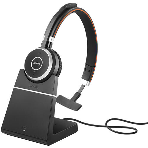 Evolve 65 Mono Headset with Long Range Wireless, UC, with Charge Stand