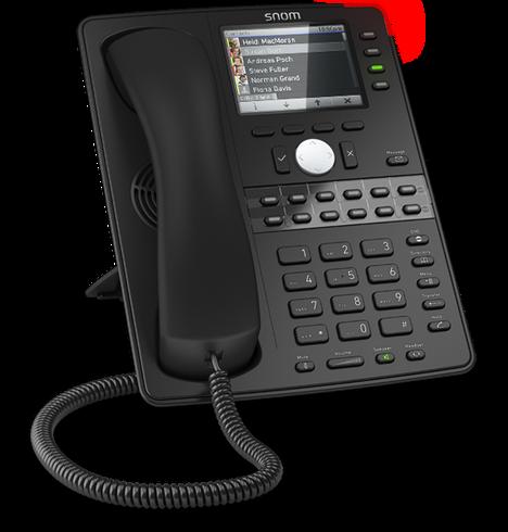 SIP Deskphone, 16-Button, Colour Screen, 2 x Gigabit Ethernet, PoE