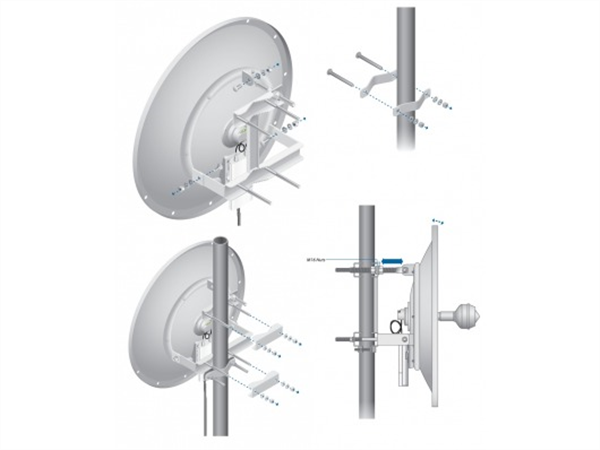 24dBi 2.4GHz Dual Polarity airMAX 60cm RocketDish Antenna