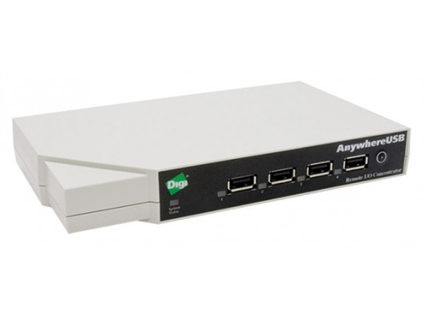 AnywhereUSB/5M Network Attached 5-port USB Hub, Multi-Host Connections