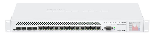 RouterBOARD Cloud Core Router, 12x Gigabit, 4x SFP