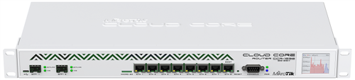 Router with 8 x GigE RJ45, 2 x 10GigE SFP+ Ports (extended memory)