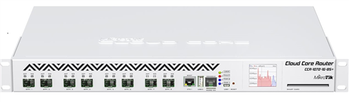 Cloud Core Router, 1 x GigE, 8 x 10G SFP+ ports, Rackmount