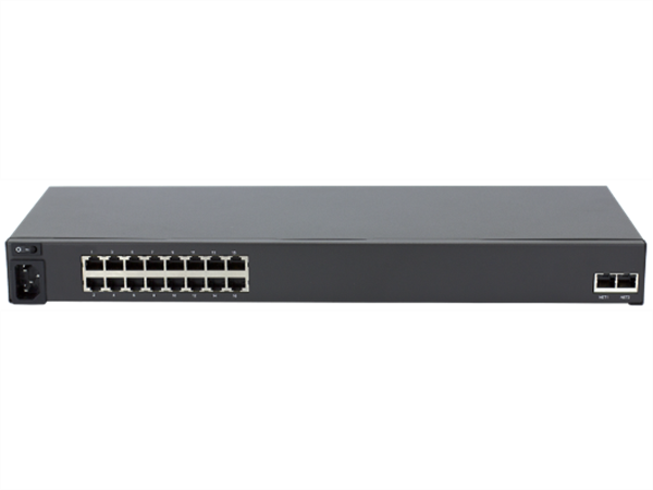 16-Port Serial Infrastructure Manager, Single AC Power, Dual GigE