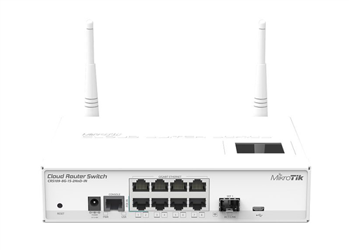 RouterBOARD Cloud Router Switch 8xGigabit LAN, 1xSFP, 2.4Ghz WiFi
