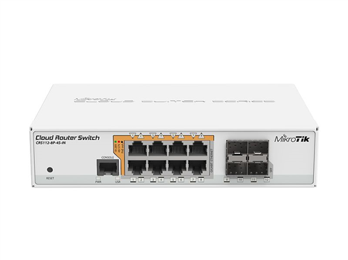 8-Port Gigabit Ethernet PoE Switch, with Router OS