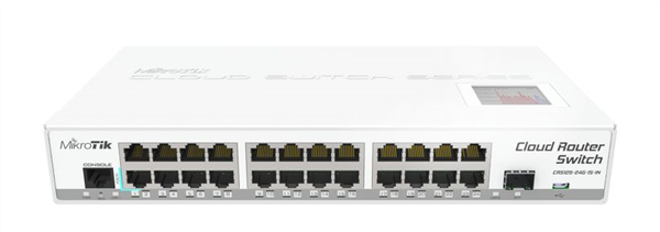 24-Port Gigabit Ethernet Layer 3 Switch, 1x SFP port, LCD Screen