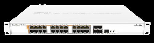 24-Port Gigabit Cloud Router PoE Switch, 4 SFP+, Rackmount