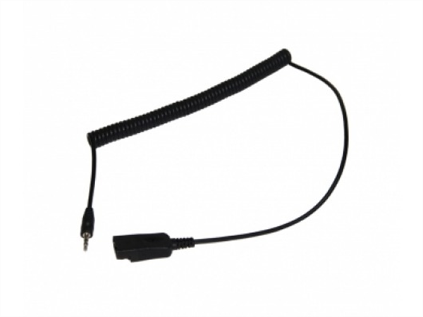 2 5mm plug to qd curly cord adapter