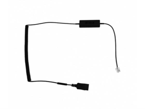 i16 Intelligent Cord, RJ plug to QD Curly Cord Adapter