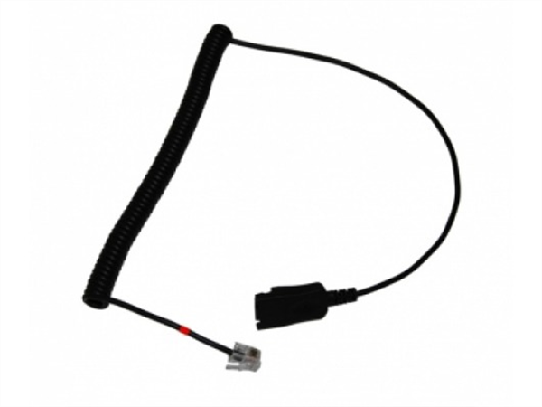 Plug to QD Curly Cord Adapter for Xenexx headsets connecting to Yealink IP Phones