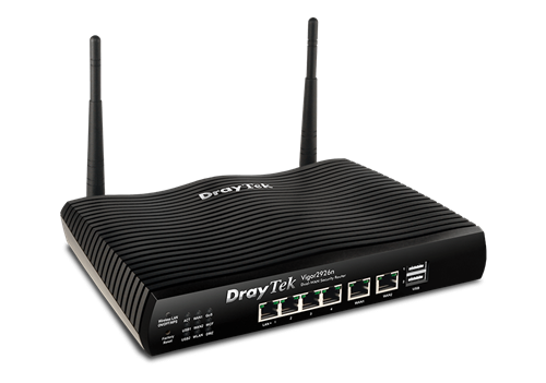 Dual-GigE WAN Router/Firewall, with 802.11b/g/n WiFi, IPSec, SSL, PPTP