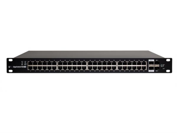 EdgeSwitch 48 Gigabit Ethernet Ports, 2 SFP+ Ports and 2 SPF Ports, 24V / 802.3af / 802.at PoE, (500W max)