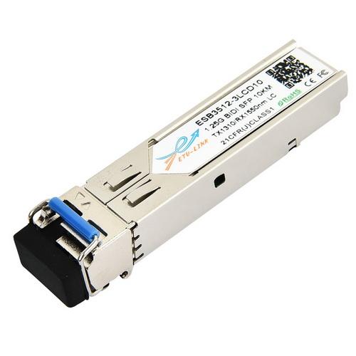 1.25Gbps Bi-directional SFP module, TX1310/RX1550nm, Single-mode, 10KM