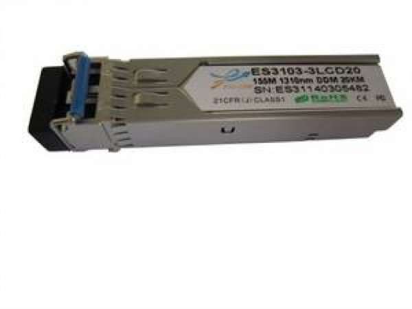 100Mbps Bi-directional SFP module, TX1550/RX1310nm, Single-mode, LC connector