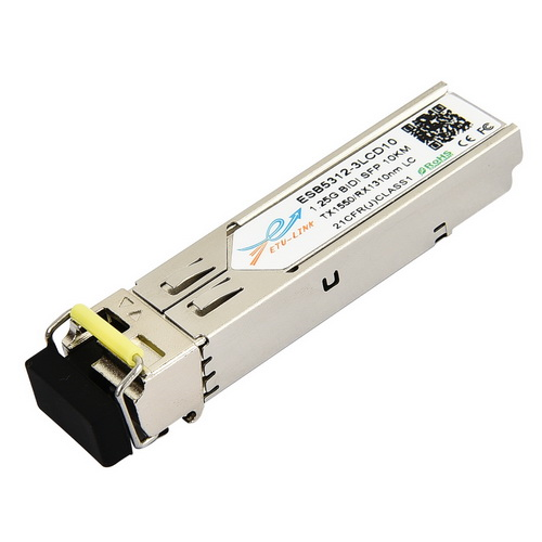 1.25Gbps Bi-directional SFP module, TX1550/RX1310nm, Single-mode, 10KM