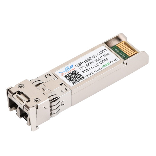 10Gbps 850nm multimode SFP+ Optical Transceiver, 300M reach