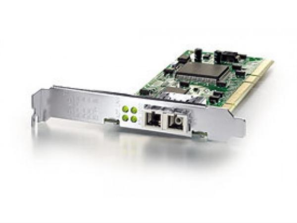 Gigabit Ethernet Fiber PCI Card, SC connector, 32/64bit 1000Base-SX