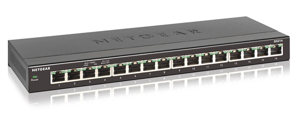 16-port Gigabit Unmanaged Switch, Desktop/Wall-mount