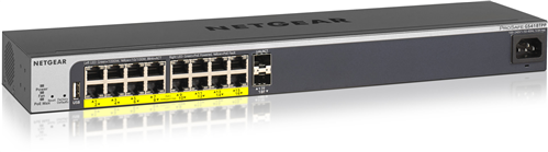 ProSafe EasyMount 16-Port POE+ Gigabit Managed Switch, 2 SFP, 240W PoE