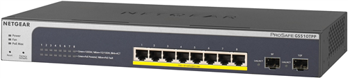 ProSafe 8-Port POE+ Gigabit Managed Switch, 2 SFP, 190W PoE