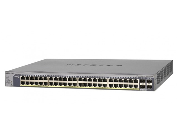 ProSafe 48-port Gigabit Smart Switch, 4 SFP, 48 x 802.3af PoE, 8 x 802.3at PoE+