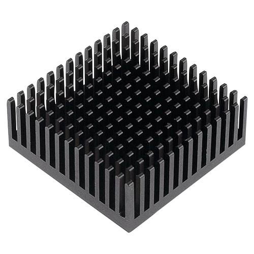 Heatsink for M.2 SSD module,14x14MM, Black, self adhesive, 8 units