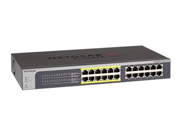 ProSAFE Plus 24-Port Gigabit Ethernet Switch, Rackmount, 12 PoE Ports JGS524PE-100AJS