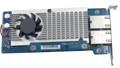 Dual-port 10Gbase-T network expansion card for TS-879U-RP, TS-1279U-RP, TS-EC879U-RP, TS-EC1279U-RP, TS-1679U-RP, TS-EC1679U-RP, TVS-1271U